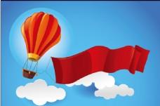 热气球背景