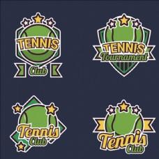 网球比赛培训俱乐部标志LOGO