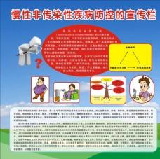慢性非传染性疾病防控的宣传栏