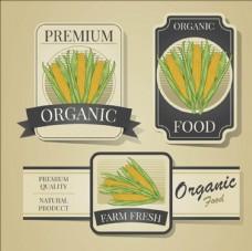 复古装饰玉米标签