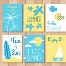 漂亮的六款夏日卡片