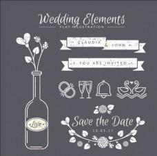 古典婚礼装饰元素
