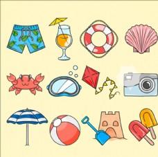 卡通夏季设计元素