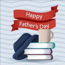 父亲节书籍礼帽和咖啡杯