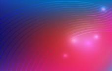 蓝红渐变发光线条科技背景矢量素
