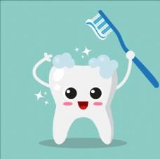 清洁牙齿的背景
