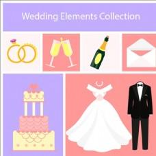 平面设计中收集婚礼元素