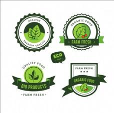 绿色有机食品的装饰标签