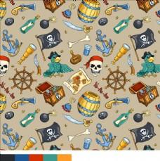 布料印花图案下载海盗素材下载