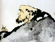 潘天寿 达摩图