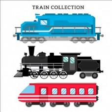 不同年代的火车集合