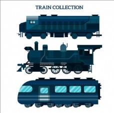 不同年代的火车集