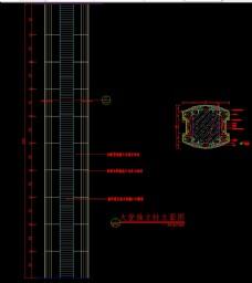 大堂独立柱立面图及剖面详图