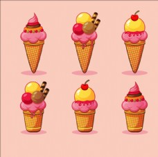 手绘冰淇淋集合