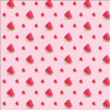 粉红色的西瓜图案背景