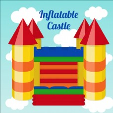 色彩斑斓的充气城堡