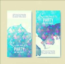 三角形的水彩夏日派对