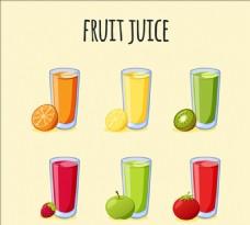 手绘水果果汁