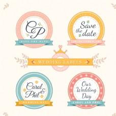 圆形婚礼标签