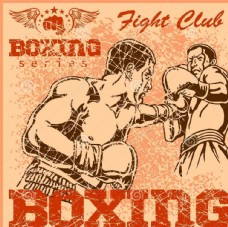 拳击漫画海报