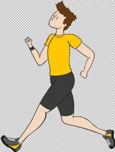 黄衣跑步者免抠png透明图层素材
