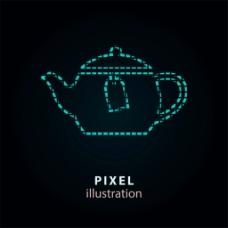 象素茶水壶图标图片