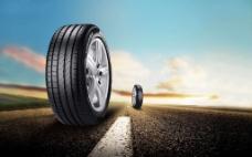 汽车轮胎背景