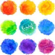 彩色晕染水墨图片