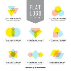 八幅几何图形平面标志的收藏