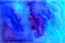 蓝色晕染水墨图片