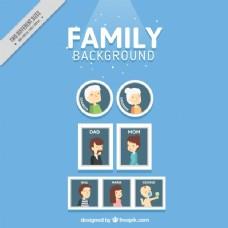 家庭相框背景