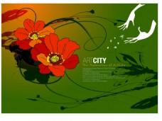 绿色经典花纹图案