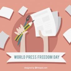 世界新闻自由日背景资料和铅笔
