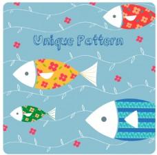 蓝色线条鱼类