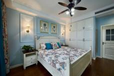 现代美式卧室装修效果图