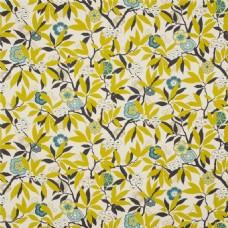 黄叶蓝色图案壁纸
