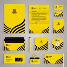 黄色线条VI设计