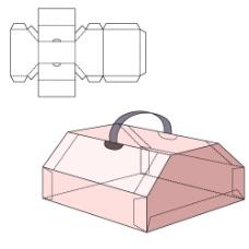 个性粉色纸盒设计图片