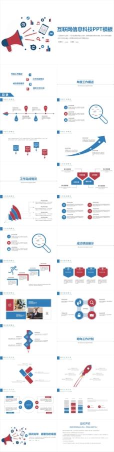 大数据科技信息云计算ppt模板