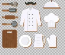 扁平风格厨房用品免抠png透明图层素材