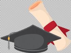 毕业帽毕业元素免抠png透明图层素材