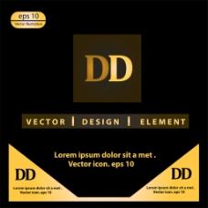 金色字母D标志图片