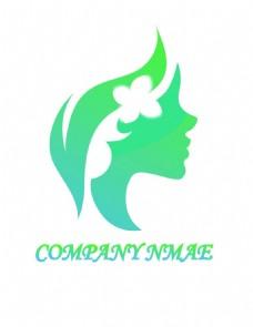 女性侧脸logo