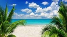 海滩风景背景图片素材