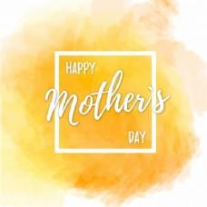 黄色的水彩画作为母亲节的背景