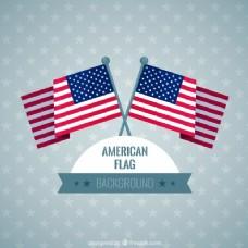 背景有星星和美国国旗