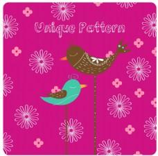 粉红色花纹装饰图案