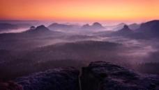 山逢背景山顶背景夕阳背景高清背景创意背景