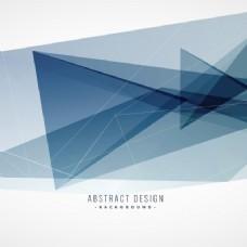 灰色的背景与多边形的形状和透明度