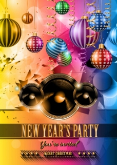 新年派对装饰背景图